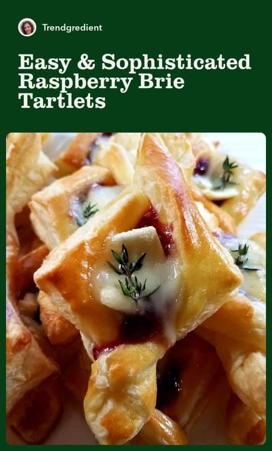 A Pinterest Pin: Easy and Sophisticated Raspberry Brie Tartlets